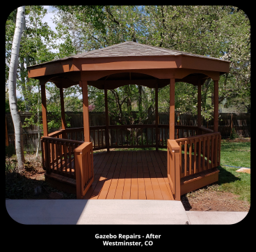 Gazebo Repairs- After Photo - Westminster, CO