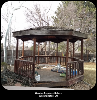 Gazebo Repairs - Before Photo - Westminster