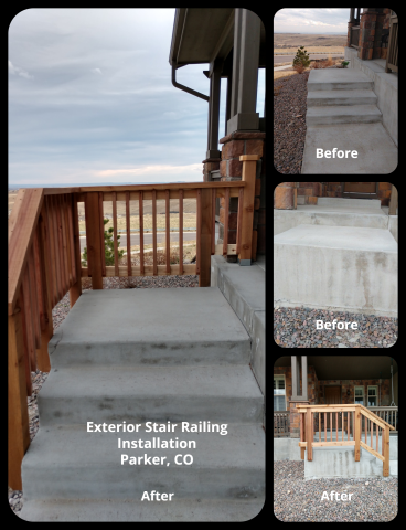 Exterior Stair Railing Installation - Parker, CO