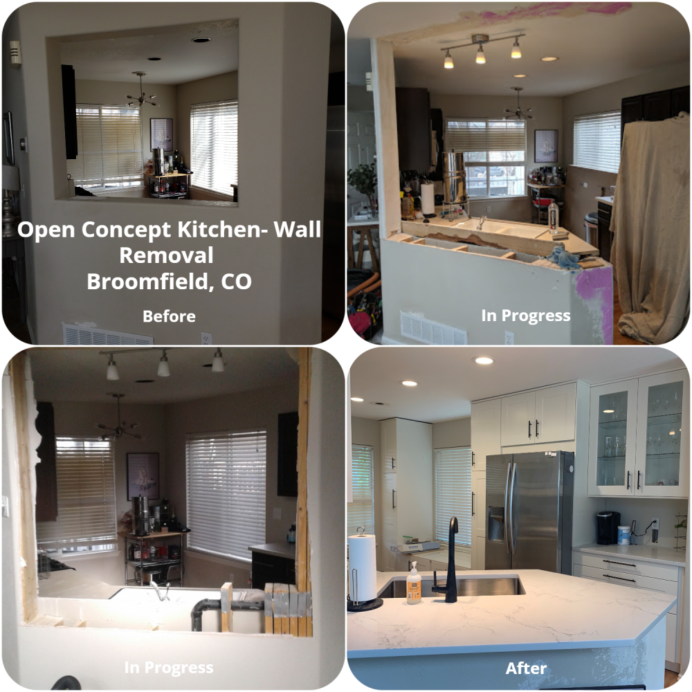 Open Concept Kitchen - Wall Removal Broomfield, CO