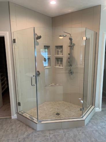 Removed a Garden tub to create a luxury shower!!