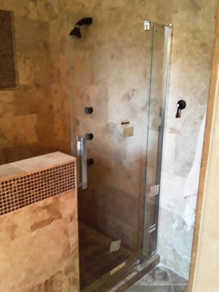 Shower door install