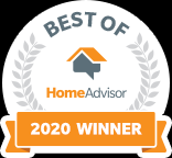 HomeAdvisor Badge Best of 2020