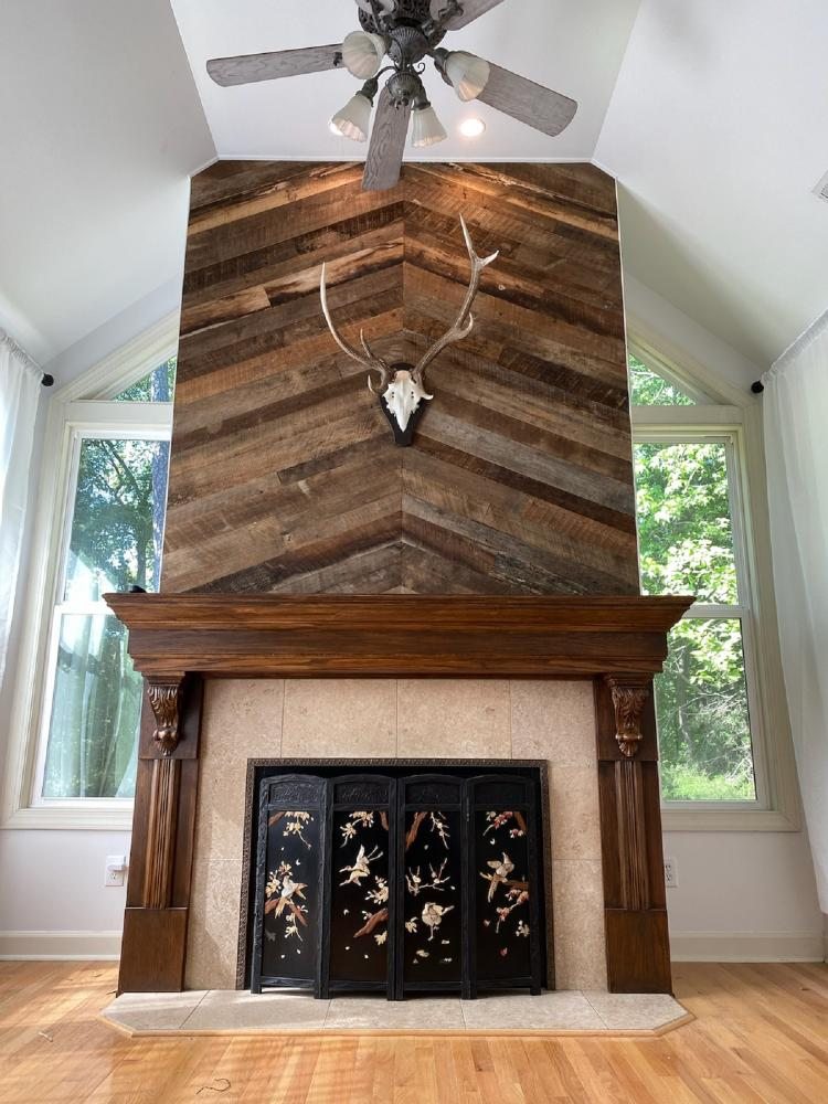 Barnwood Mantel Upgrade, Northstone, Huntersville, NC
