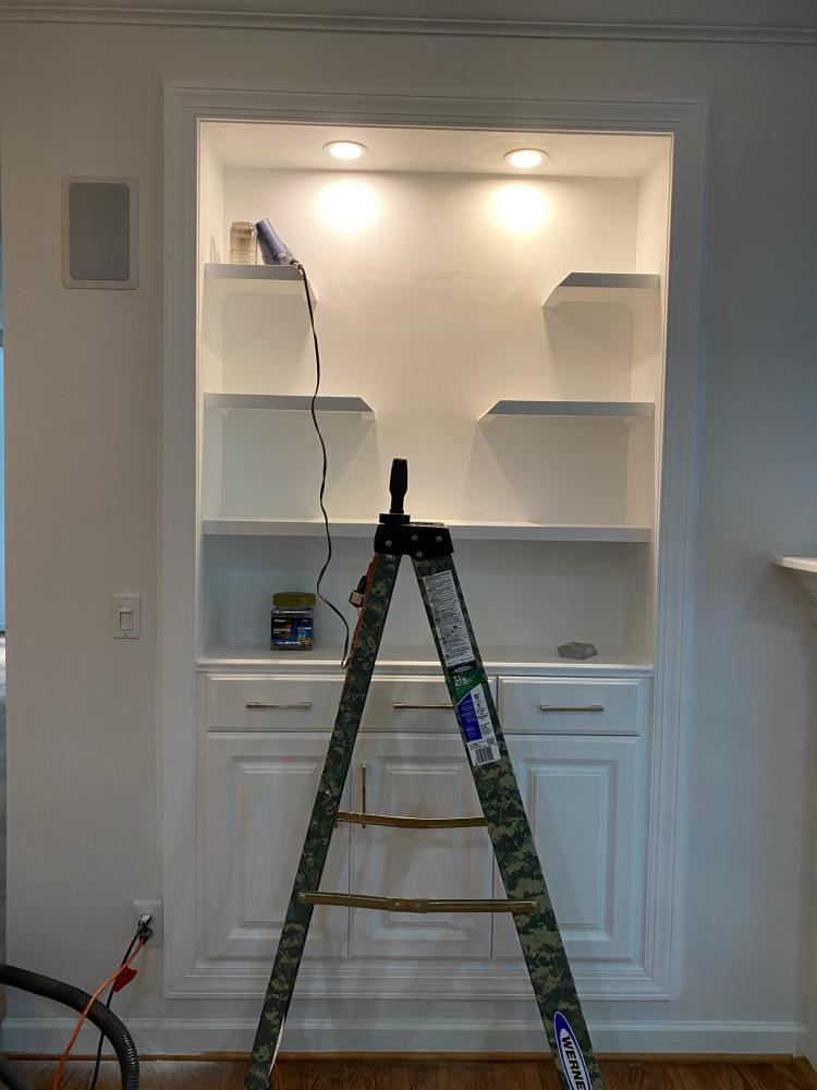 Built in Custom Book shelf, Huntersville, NC