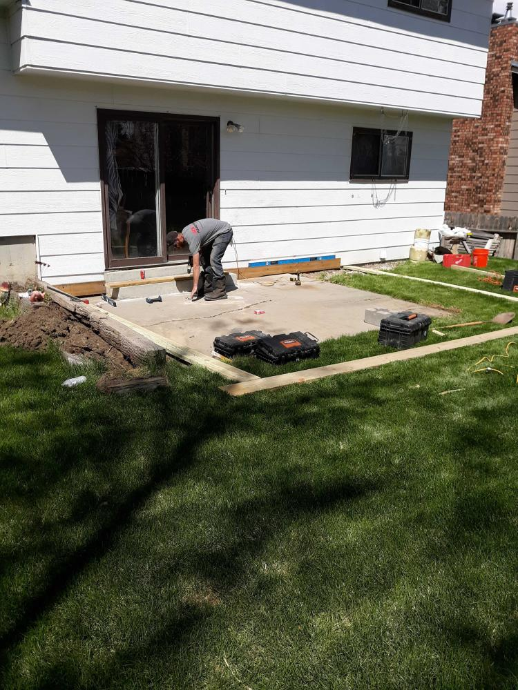 Deck installment job beginning