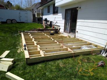 Deck installment job middle