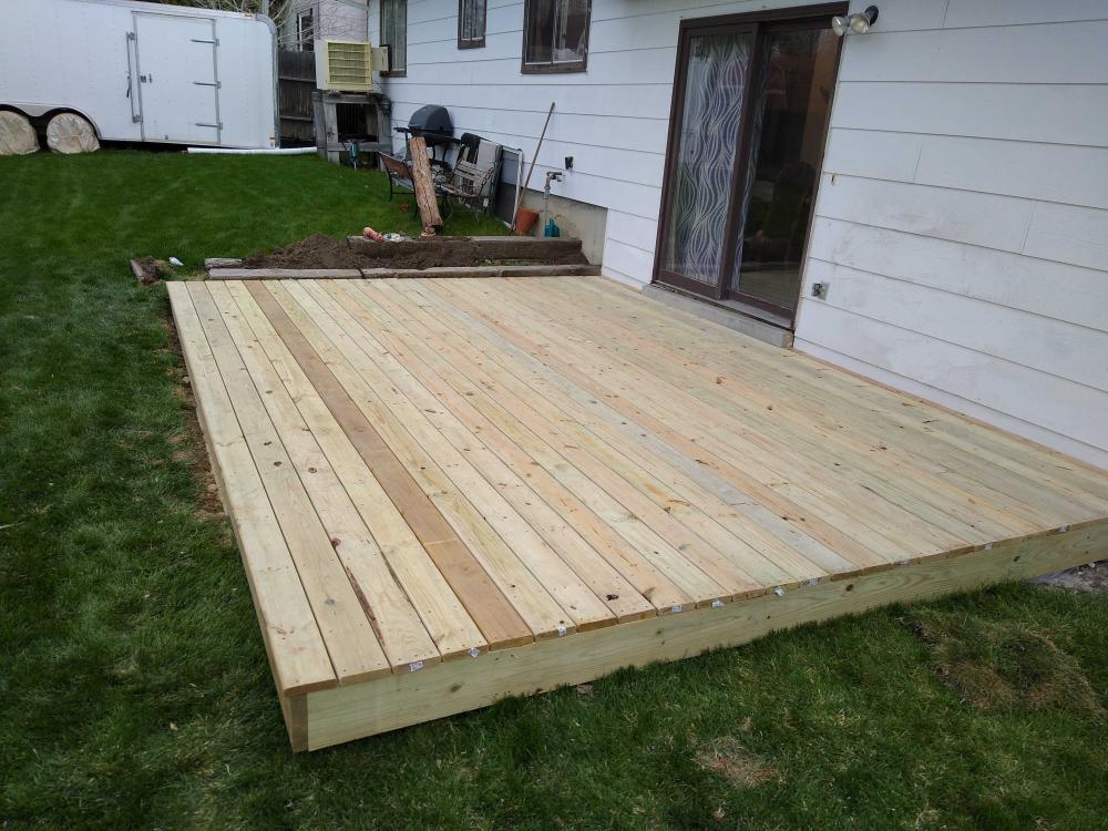 Deck installment job Finished