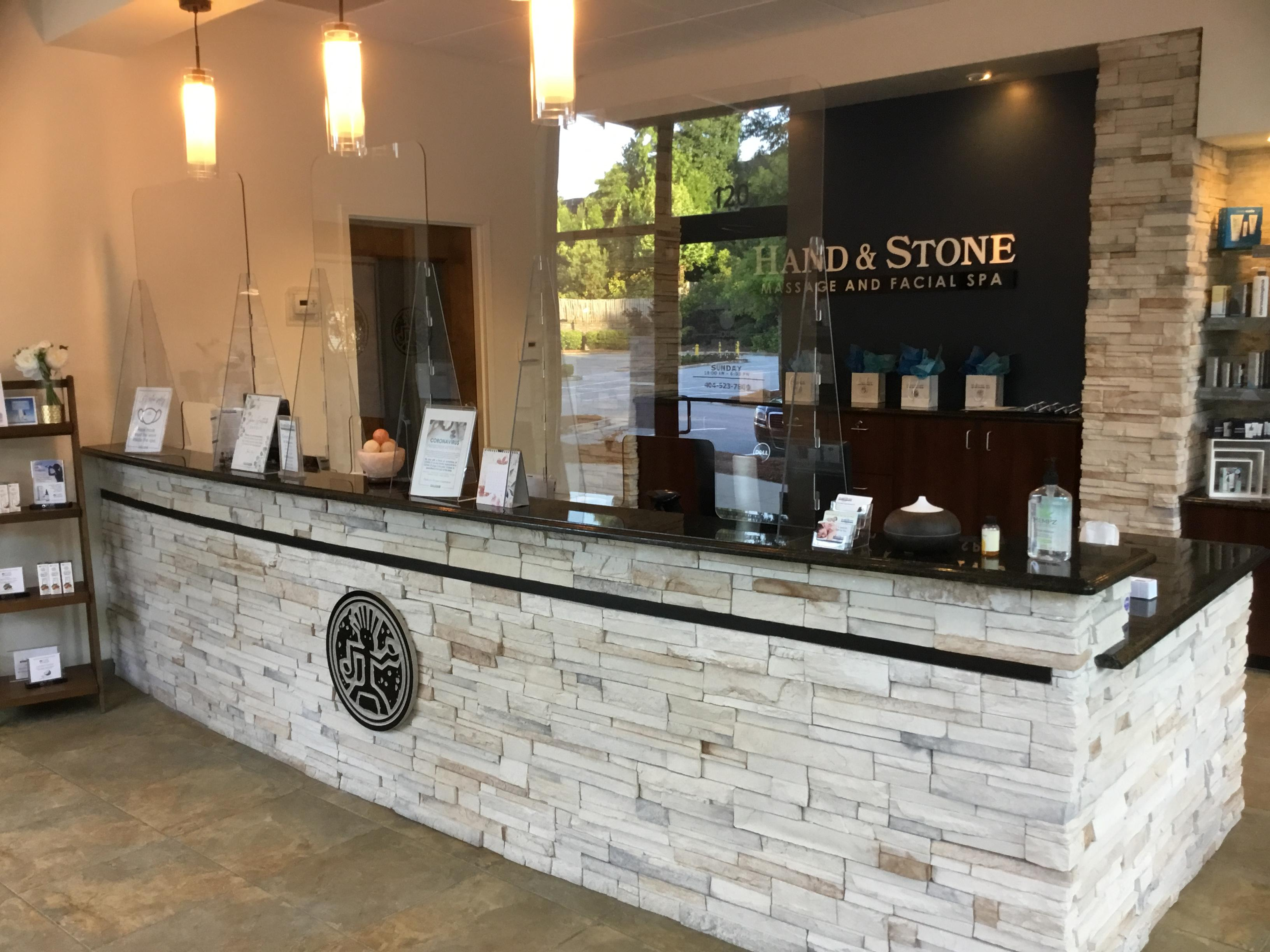 Concierge Desk at Hand and Stone of Sandy Springs