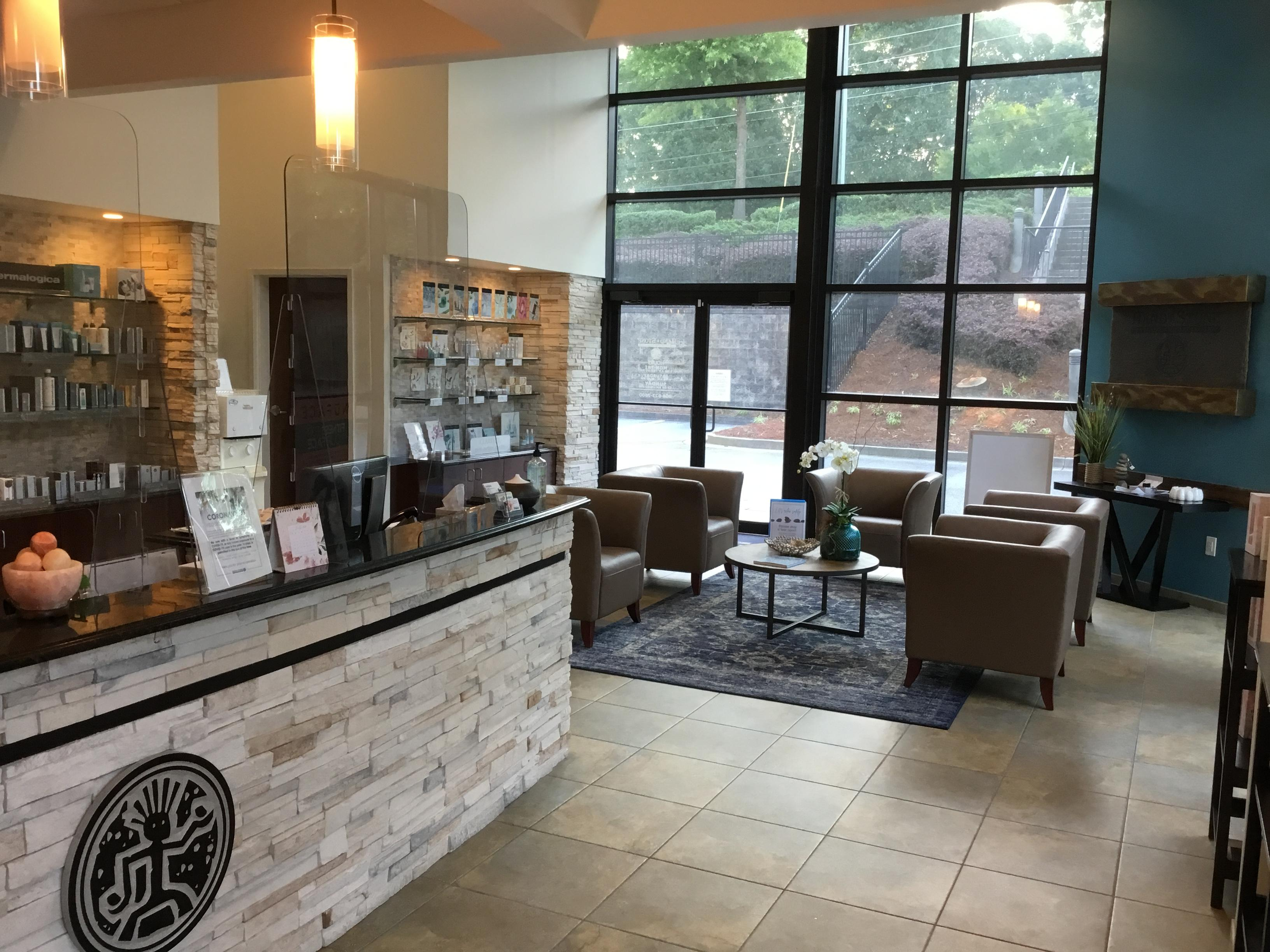 Spa Lobby of Hand and Stone Sandy Springs