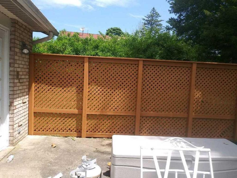 After Photo of Stained Lattice in Dallas