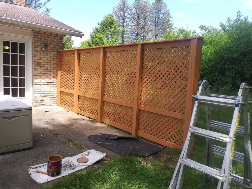Stained Lattice Privacy Wall in Dallas