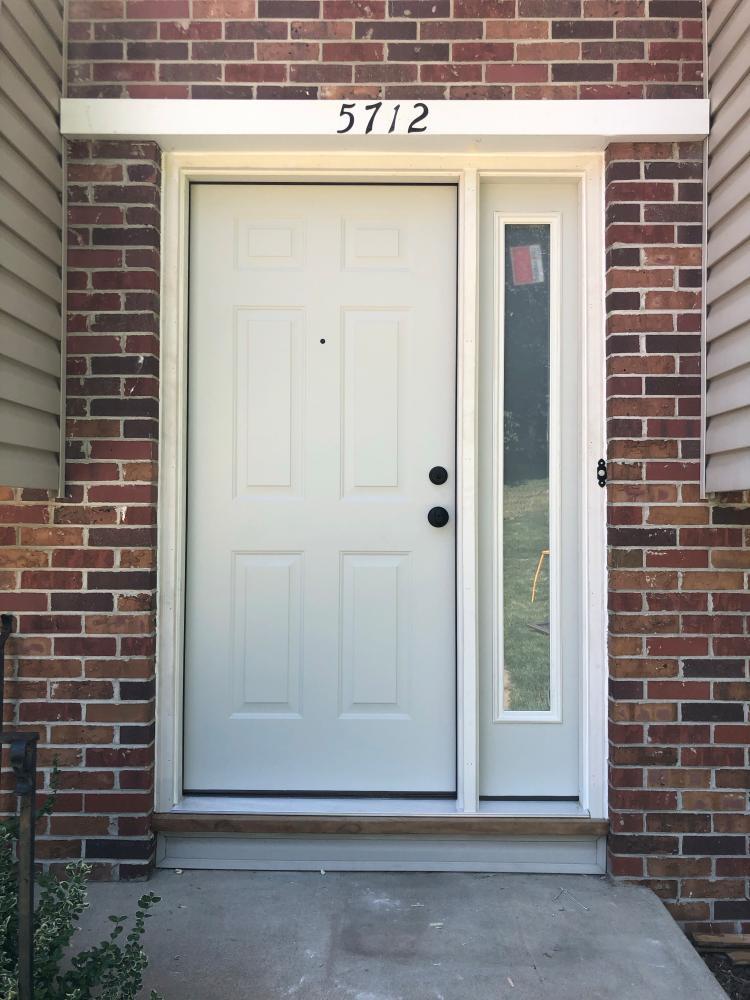 New Exterior Door with Sidelight