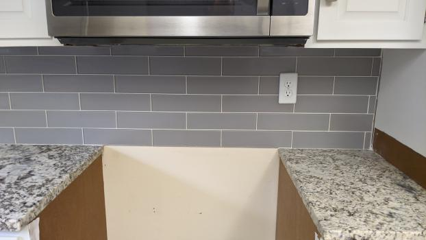 Reworking the back splash