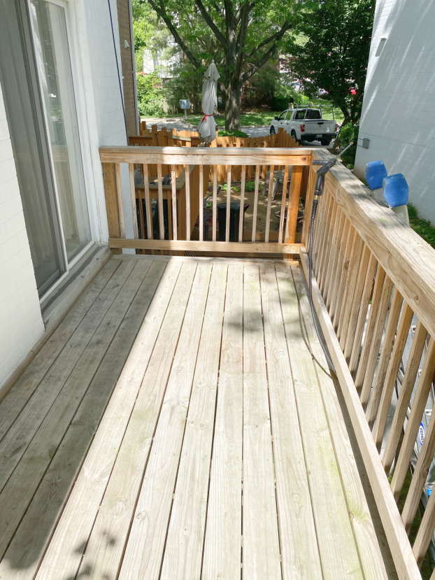 Pressure Washed and Stained Deck
