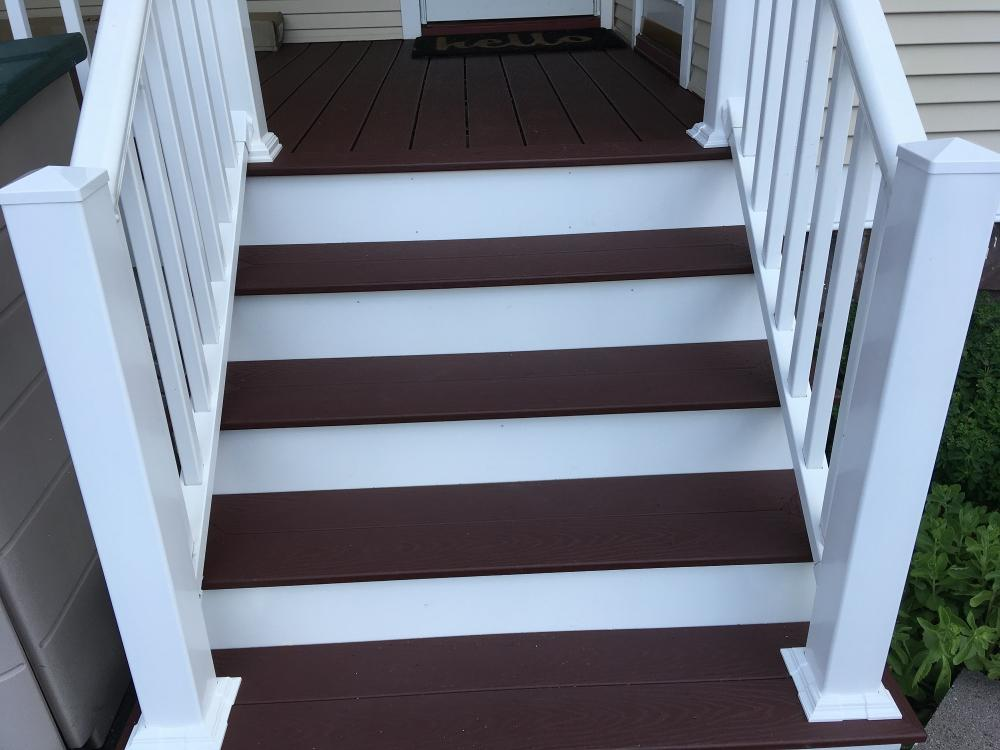 Rehabbed Rear Porch and Steps in Kingston