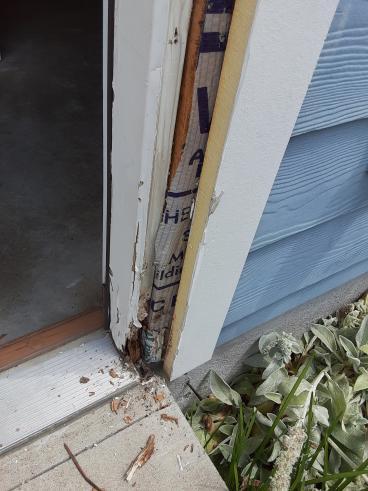 Before Showing Damaged/Rotten Door Frame, Nashville, TN