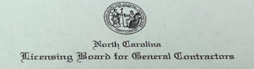 North Carolina Licensing Board of General Contractors