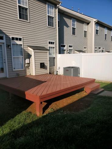 Treated deck before new Composite deck built, Gilead Ridge Neighborhood