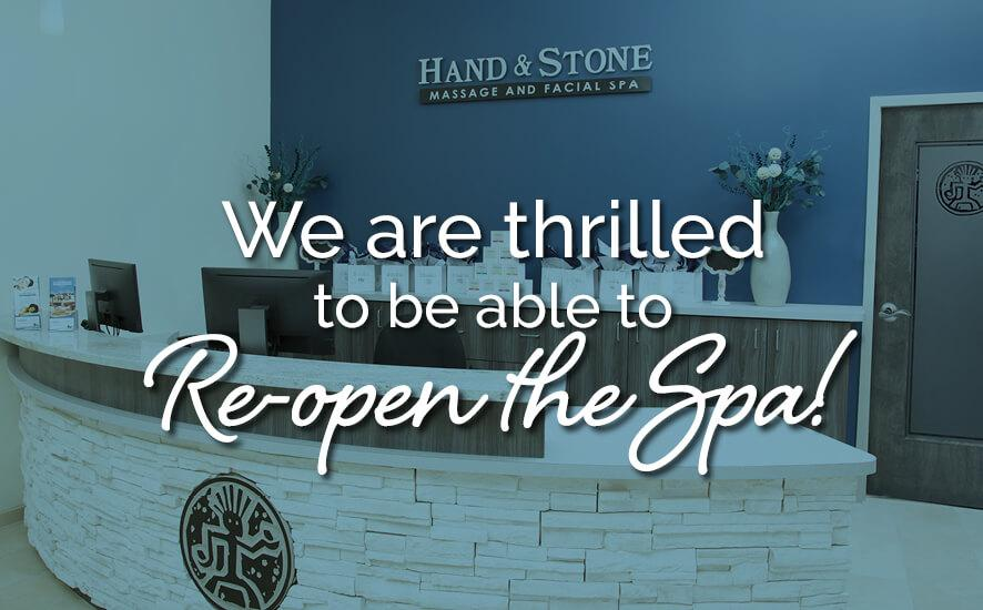 Thrilled to be Re-opening the Hand & Stone Massage Spa in Hewlett, NY