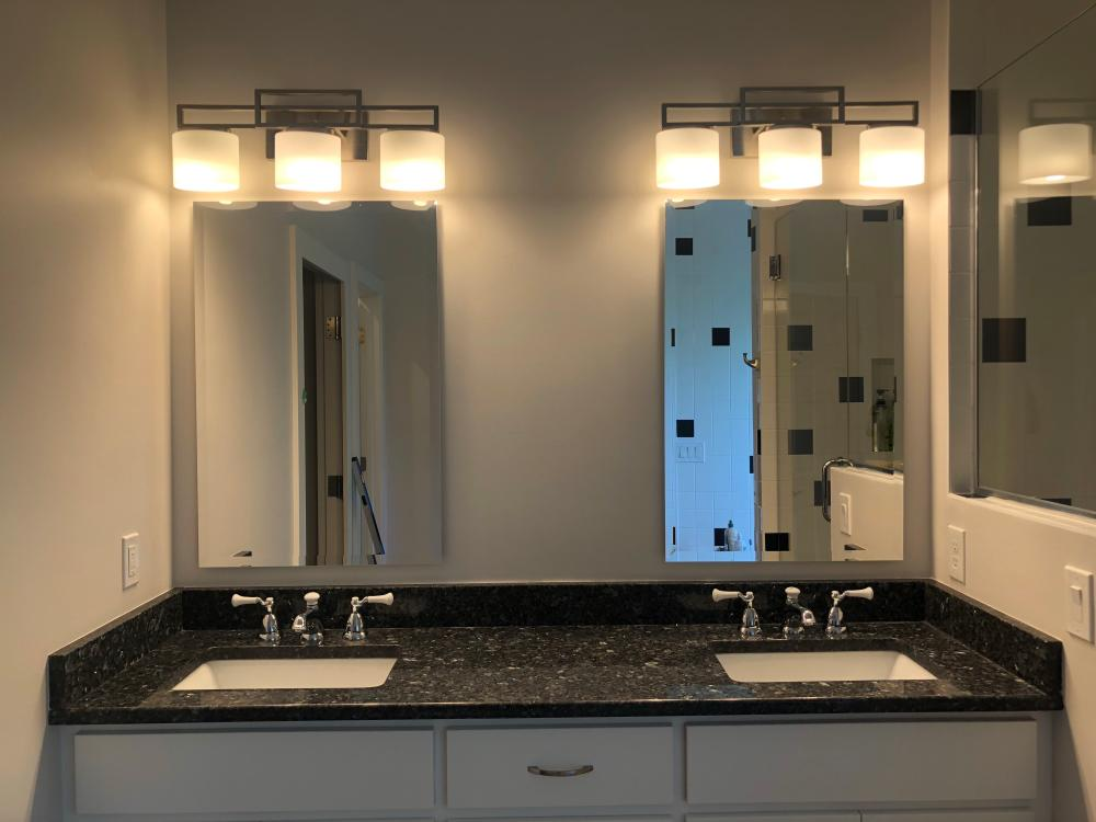 Beautiful Double Sink Vanity After