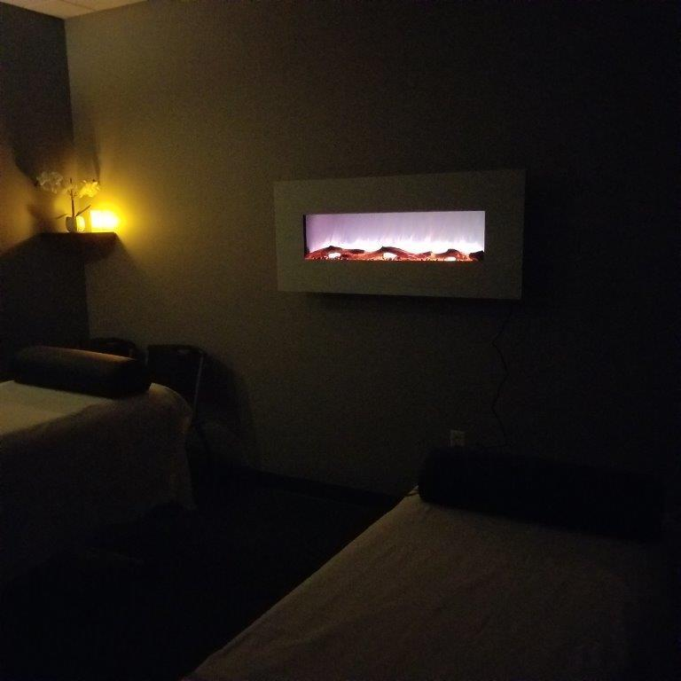 Couples Massage Suite with Fireplace