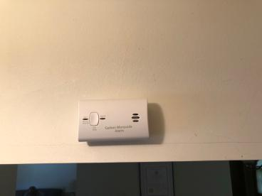 New Carbon Monoxide Detector Installed