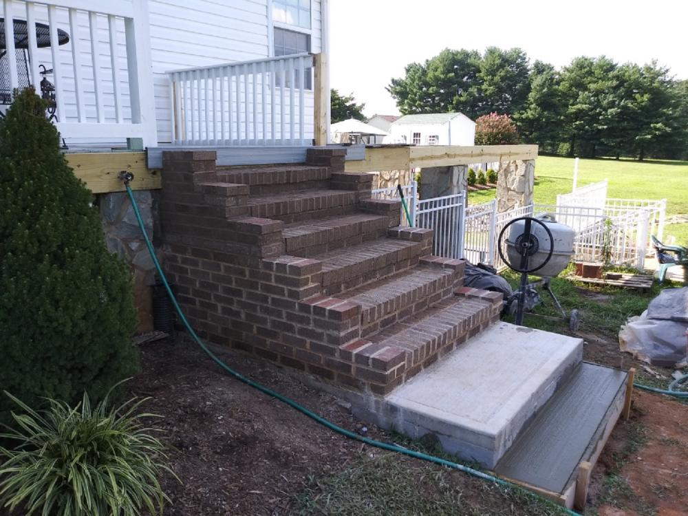 Catawba - Brickwork built on block foundation
