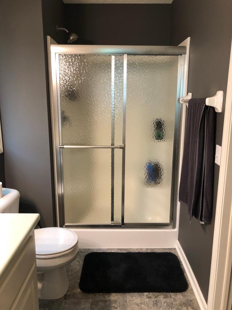 Installed Shower Door