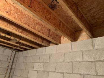 Rim Joist Insulation Project in Pewaukee, Wisconsin