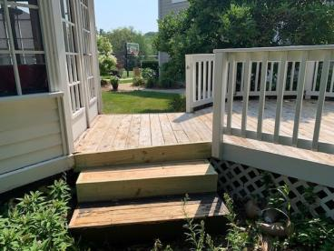 Deck Repair Project in Pewaukee, Wisconsin