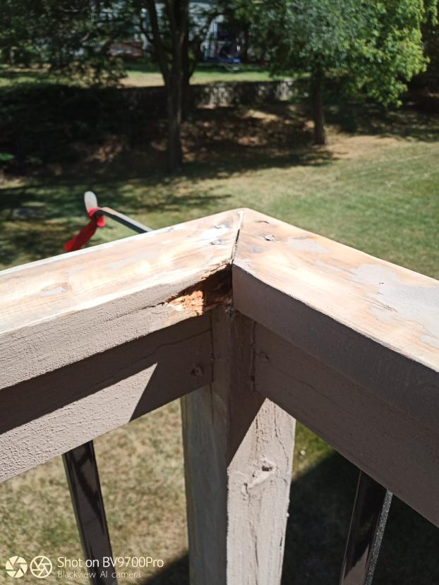 Deck Railing Replacement - Before