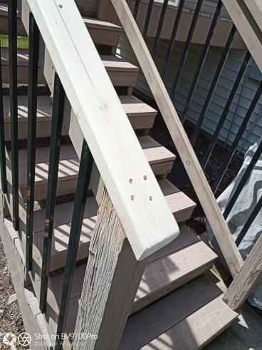 Deck Stair Railing Replacement - After