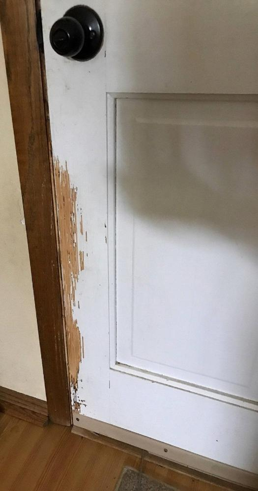Door Repair in Oconomowoc Wisconsin - Before