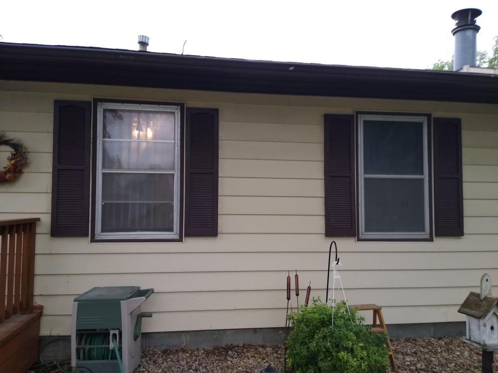 Replaced Shutters