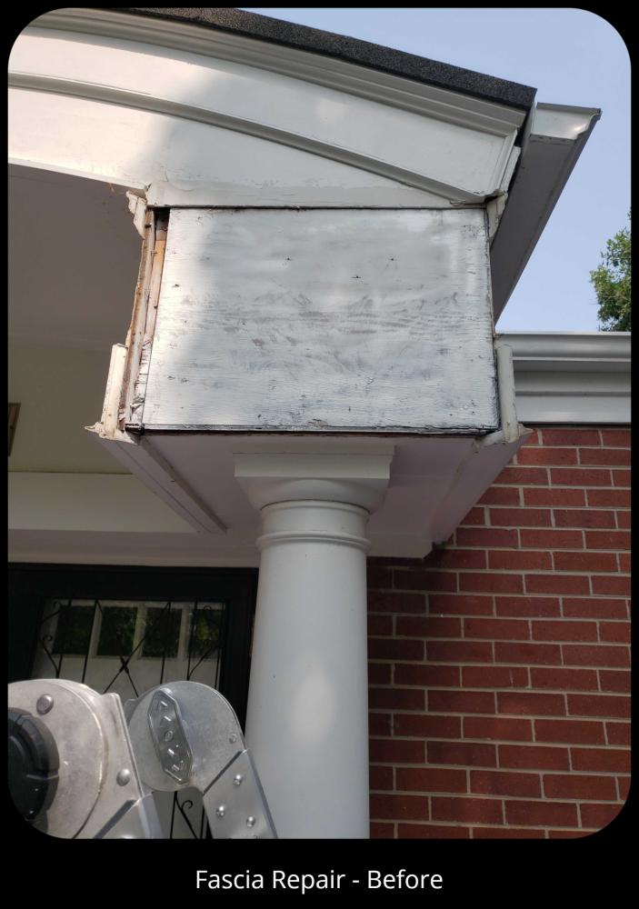 Fascia Repair - Before, Englewood, CO