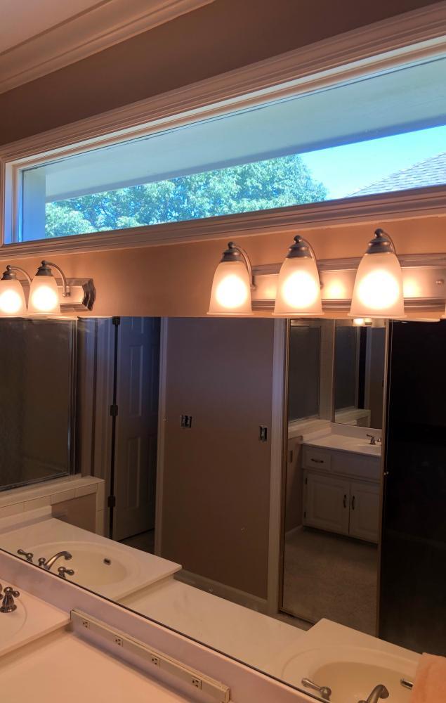 Beautiful Vanity Lights Installed