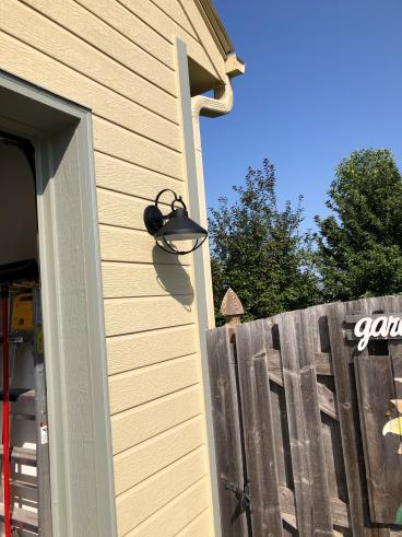 Replaced Exterior Light Fixtures