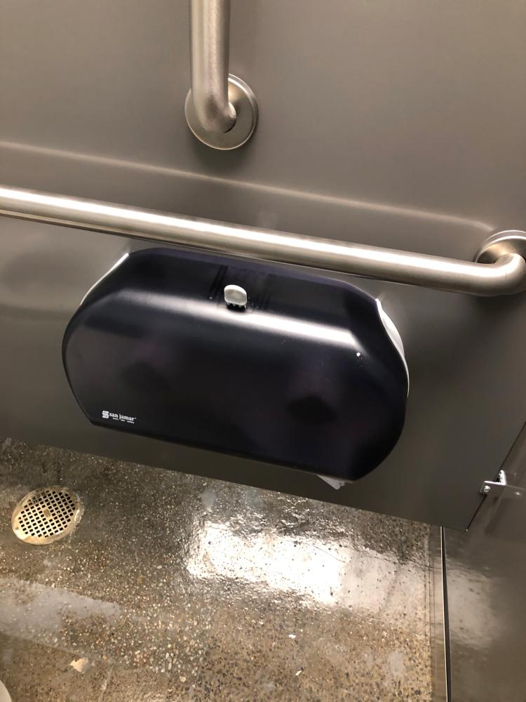 Commercial Toilet Paper Holder Installed