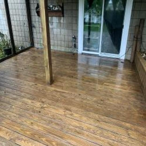 Deck Power Wash Project in Dousman Wisconsin - After Photo