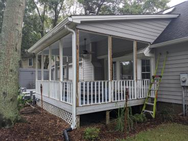 James island Screened in Porch Before