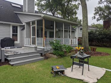 James Island Screened in Porch before picture