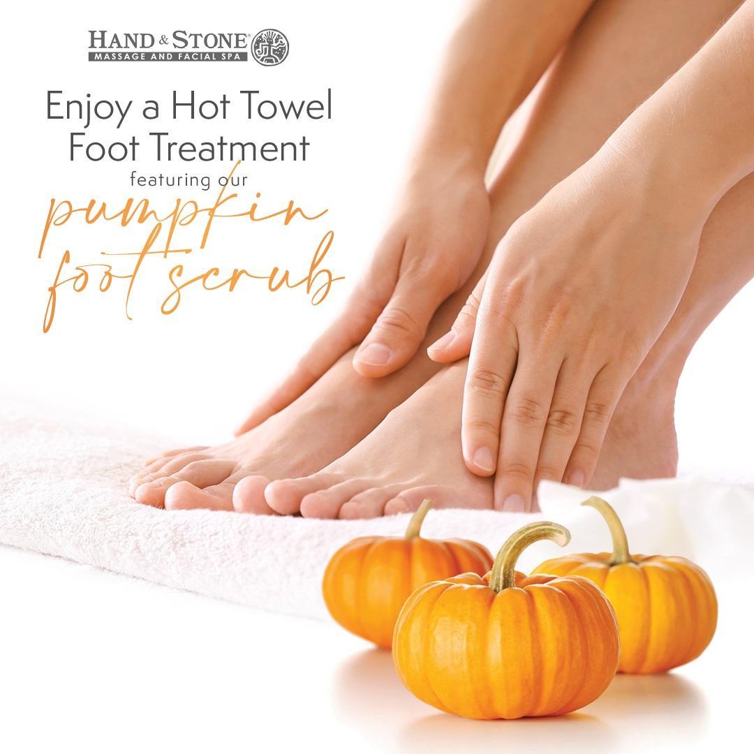 Pumpkin Foot Scrub from Hand & Stone Massage Facial Spa