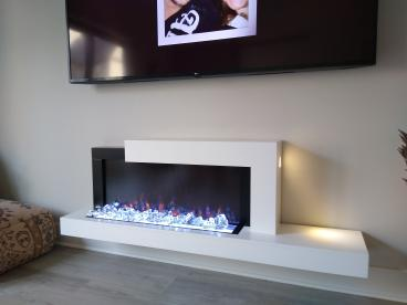 Mounted a Gorgeous Electric Fireplace!