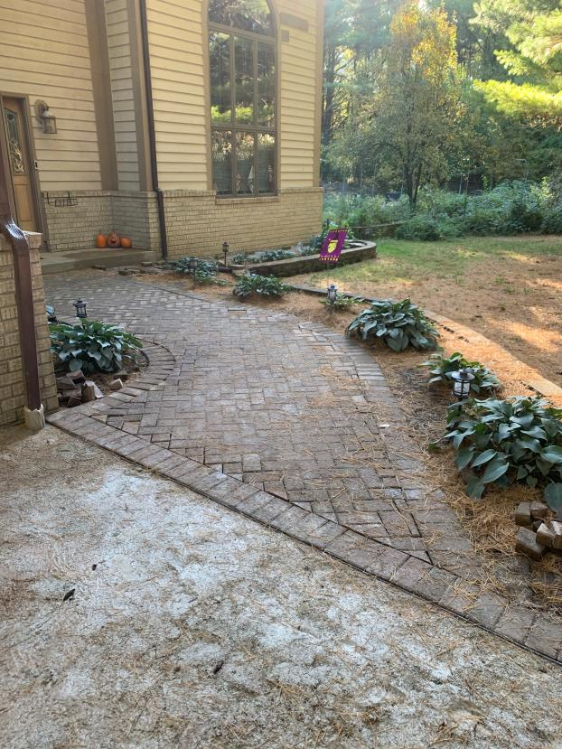 Brick walkway project in Waukesha Wisconsin - After