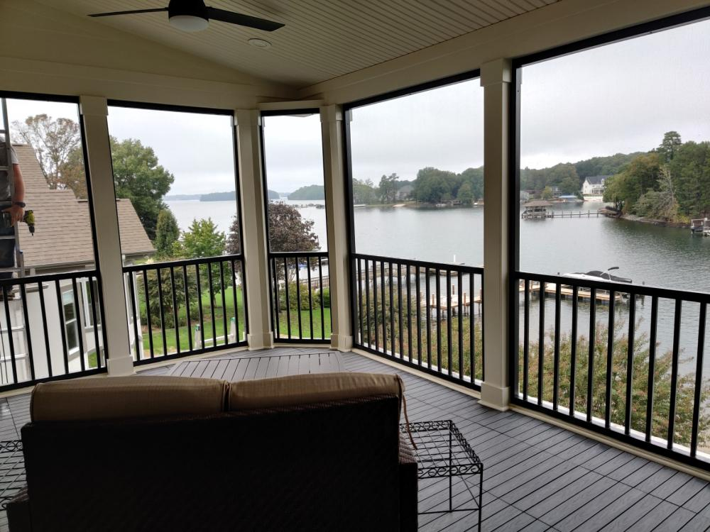 New 3rd story Penthouse screened in porch with NewTechwood Vinyl flooring, The Peninsula,Cornelius