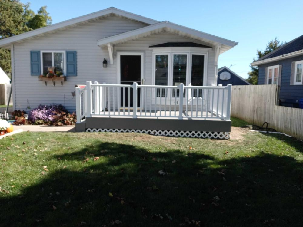 New Front Deck and Railings 1