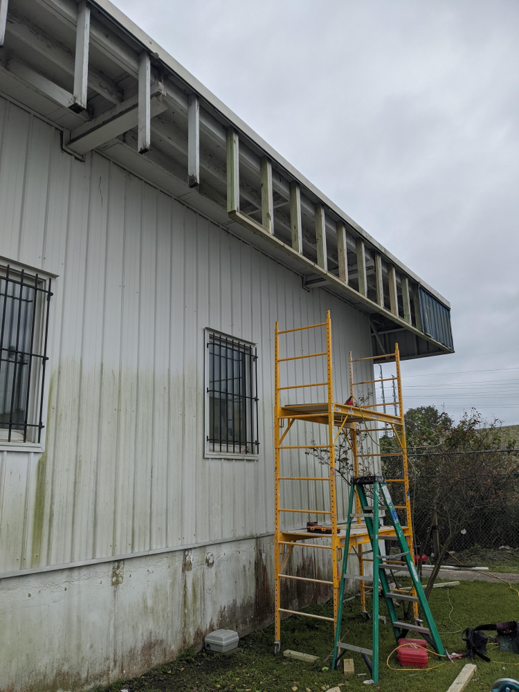 Commercial refacing of a building in North Charleston