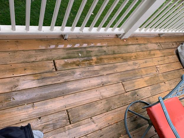 Deck Refresh with TimberTech Azek Vintage English Walnut - Before