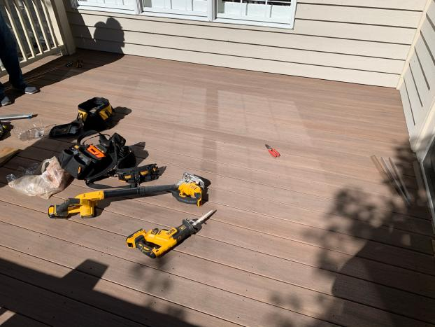 Deck Refresh with TimberTech Azek Vintage English Walnut - After